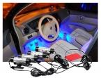 4x 3LED Обязанность Автомобиля DC12V 6 Вт Glow Салона Декоративные 4in1 Атмосфера Синий Свет Лампы Авто принадлежности автомобильные свет нога свет