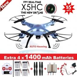 СЫМА X5HC 4-CH 2.4 ГГц 6-осевой RC Quadcopter С 2-МЕГАПИКСЕЛЬНОЙ HD камера АВТОМАТИЧЕСКИ Наведении Режим Безголовый RC Drone SYMA X5SC Модернизированный версия