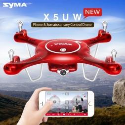 Syma Новейших X5UW Летательный Аппарат с Wi-Fi Камера HD 720 P Передачи в Режиме реального времени FPV Quadcopter 2.4 Г 4CH RC Дрон вертолет Квадрокоптер