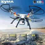 Оригинал Syma Новейшие X8G 2.4 Г 4CH 6 Оси с 8MP Широкий угол HD Камера RC Quadcopter RTF Вертолет Drone 360 Градусов опрокидывание