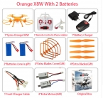 СЫМА x8w и x8c FPV RC Беспилотный 6-осевой Профессиональный Quadcopter С 2-МЕГАПИКСЕЛЬНАЯ Камера WiFi Вертолет С Батареей И 2 Двигателей подарок