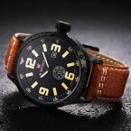 Мужские Часы Лучший Бренд Класса Люкс Кожаный Ремешок Аналоговые Спортивные Часы Часы Мужчины Кварцевые Военные Часы Relogio Masculino