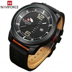 Naviforce календарная часы мужчины кварц - часы часы мужчины люксовый бренд кожа военный наручные часы relogios masculinos reloj хомбре
