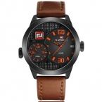 NAVIFORCE часы мужчины военно-Спортивный Кварцевые часы люксовый бренд моды случайные Двойной Время Водонепроницаемой кожи часы relojes