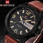Naviforce календарная люксовый бренд часы мужские кварцевые часы мужчины военные спортивные часы свободного покроя наручные часы montre homme relojes хомбре  xfcs мужские xfcs мужские
