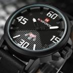 NAVIFORCE Бренд мужской Моды Случайные Спортивные Часы Мужчины Водонепроницаемый Кожаный Кварцевые Часы Часы Человек военный Relógio Masculino