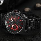 NAVIFORCE  Хронограф 24 Часы Красный Циферблат Из Нержавеющей Стали Группа Мужчины Открытый Спортивные Часы Мужчины Смотреть Relogio masculino