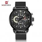 NAVIFORCE  Спортивные Мужские Часы Топ Luxury Brand мужские Кварцевые аналоговый Дата Часы Человек Армии Повседневная Полный Стали Мужчины Наручные часы