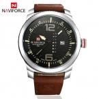Роскошные Часы Мужчины Известная Марка NAVIFORCE Спортивные Часы Мужчины Военная Кварцевые Часы Часы Мужчины Кожа Мужчины Смотреть Relogio masculino