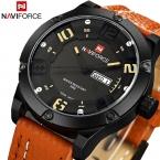 NAVIFORCE календарная часы армейские водонепроницаемые мужские спорт наручные часы свободного покроя кварца мужчины из натуральной кожи военные часы спорта часы мужчины naviforce часы мужские водонепроницаемые