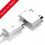 Micro USB до 30 контакт. USB адаптер конвертер кабель для iPhone 4 4S 4 г 3GS для iPad ставку бесплатная доставка