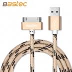Bastec 30 Контактный Нейлон Плетеный Провод Металлический Штекер Синхронизации Данных USB кабель для iPhone 4s 4 iPad 2 3 с Розничной Коробке