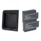 SOOCOO C30/C30R 3.7 В 1050 мАч Аккумулятор с зарядным устройством для C30/C30R/C50/C10S/C20/C10/SJ4000/SJ5000/SJ7000/SJ8000