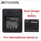 Международная версия Xiaomi yi Xiaoyi заменить Аккумулятор Аккумуляторная Батарея   Двойной Зарядное Устройство Для Международной yi Действий Камеры
