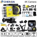 Действий Камеры 4 К 30FPS Wi-Fi Ultra HD 16MP 30 М Водонепроницаемый Mini Cam Перейти Extreme Sport Pro Камеры За SJ9000 hero 4