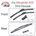 Combo Силиконовой Резины Передний И Задний Стеклоочиститель Лезвия Для Mitsubishi ASX 2010 а. Стеклоочистители Автомобильные Аксессуары (24 ''21'')
