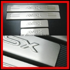автомобилей стайлинг нержавеющей стали накладка на порог с 4 шт./компл. автомобильные аксессуары для Mitsubishi ASX