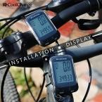 CoolChange Велосипед Компьютер Многофункциональный Водонепроницаемый Велосипедов Компьютер Спидометр Велоспорт Пробег с ЖК-Голубой Подсветкой