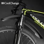 Флективный CoolChange Велосипед MTB Передние Задние СВЕТОДИОДНЫЕ Крыло Набор 26 Велосипед Fender пластиковые Quick Release с светом сид
