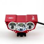 6000 Люмен 3x XM-L U2 LED Head Передний Велосипедов велосипед Лампы Фар Свет Фар 6400 мАч Батареи с зарядное устройство