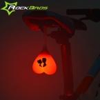 Rockbros Велосипедов Свет Велоспорт Велосипед Задний Фонарь Задний Фонарь Яйцо Велосипед Аксессуары Вернуться Сердце Световой Сигнал Предупреждения Водонепроницаемый Mtb