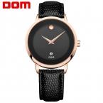 ДОМ Мужчины мужские часы лучший бренд класса люкс водонепроницаемый кварцевые кожа стиль часы reloj mujer marcas famosas