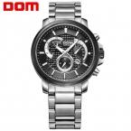 DOM смотреть человек мода спорт кварцевые для мужчин военный хронограф наручные часы мужчины армия стиль 2020 бесплатная доставка М-506