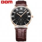 DOM часы мужчины лучшие марка роскошные водонепроницаемый кожаный часы reloj hombre marca де lujo M-3211