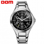 ДОМ Мужчины мужские часы лучший бренд класса люкс водонепроницаемый кварцевые часы из нержавеющей стали спортивные часы для мужчин MS-376