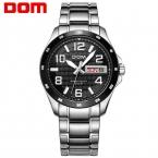 ДОМ Мужчины мужские часы лучший бренд класса люкс водонепроницаемый кварцевые часы из нержавеющей стали спортивные часы для мужчин reloj