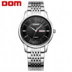 ДОМ Мужчины мужские часы лучший бренд класса люкс водонепроницаемый кварцевые часы из нержавеющей стали Бизнес reloj hombre