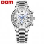 ДОМ мужчины часы лучший бренд класса люкс часы водонепроницаемые механические часы кожа смотреть Бизнес reloj hombre marca де lujo M-56