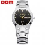 DOM  мужские деловые Часы Лучший Бренд Класса Люкс Кварцевые Часы Стали Вольфрама Способа 200 М Водонепроницаемые Часы Наручные Часы подарок W-624