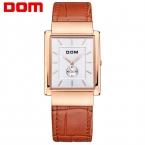 ДОМ Мужчины мужские часы лучший бренд класса люкс водонепроницаемый кварцевые золотые часы мужчины Площади часы reloj