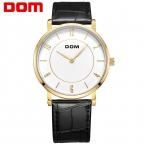 DOM часы люксовый бренд водонепроницаемый стиль кварцевые кожа золото медсестры смотреть relojes mujer reloj