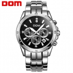 Dom многофункциональные мужские часы световой стальной лист timep водонепроницаемый спортивные повседневная мужская часы M-510
