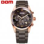 ДОМ Мужчины мужские часы лучший бренд класса люкс водонепроницаемый кварцевые часы из нержавеющей стали спортивные часы для мужчин золотые часы М-540