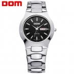 Часы мужчины Бизнес Платье люксовый бренд Топ Часы DOM кварцевые мужские наручные часы погружения 200 м Мода Повседневная Спорт relogio masculino 6