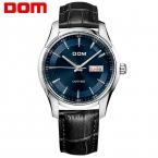 DOM мужские часы лучший бренд класса люкс водонепроницаемый кварцевые Бизнес-кожа смотреть reloj hombre marca де lujo M-517