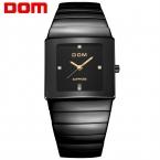 DOM Menmens часы лучший бренд класса люкс водонепроницаемый кварцевые керамические часы сапфировое стекло Бизнес-Площади часы T-730