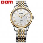 ДОМ Мужчины мужские часы лучший бренд класса люкс водонепроницаемый механические золотые часы из нержавеющей стали мужчины Бизнес М-59
