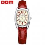 DOM люксового бренда водонепроницаемый стиль часы кварцевые кожа женщины reloj де-лас-мухерес часы женщины