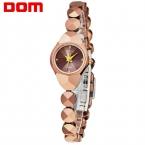 ДОМ женщины люксовый бренд водонепроницаемый стиль кварцевые часы стали Вольфрама золота медсестра часы браслет женщин