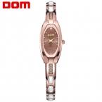 DOM Часы женщины моды luxury Brand Топ золото стали Вольфрама кварцевые Часы женщины наручные часы погружения 30 м часы relógio feminino