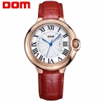 Часы Женщины ДОМ марка роскошные Мода Повседневная кварцевые часы кожа Леди спорта relojes mujer женщины наручные часы Платье Девушки 1068