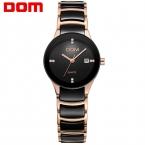ДОМ женщины люксовый бренд часы водонепроницаемые стиль кварцевые керамические медсестры смотреть reloj hombre marca де lujo T-529