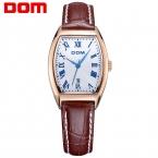 DOM люксового бренда водонепроницаемый стиль кварцевые кожа часы женщины моды  часы женщины G-1012