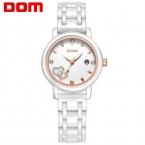 ДОМ женщины люксовый бренд часы водонепроницаемые стиль кварцевые часы керамические медсестры смотреть reloj hombre marca де lujo T-580