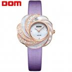 DOM кварцевые роскошные brandwatches водонепроницаемый кожаный сапфировое стекло часы женщины G-655