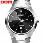 DOM сапфировое стекло царапинам носить случайный водонепроницаемость 200 метров Мужчин роскошный полный вольфрам стали смотреть женщины одеваются часы